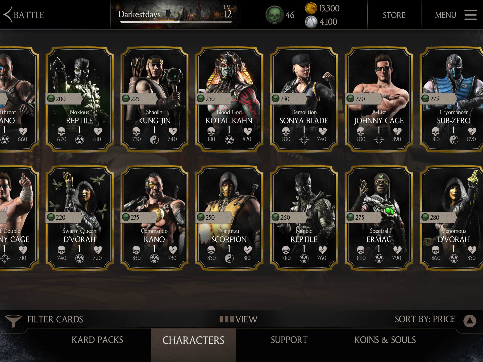 Pictures mortal characters kombat and names