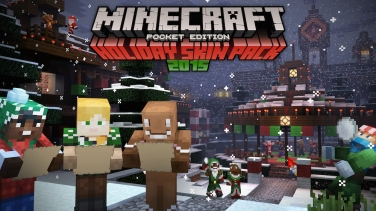 Minecraft Pocket Edition New Holiday Skins With Update - Skins para minecraft pe ultima version